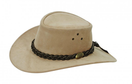 Wallaroo Suede Outback Hat by Jacaru