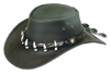 Black Wallaroo Croc Hat by Jacaru