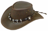 Brown Wallaroo Croc Hat by Jacaru