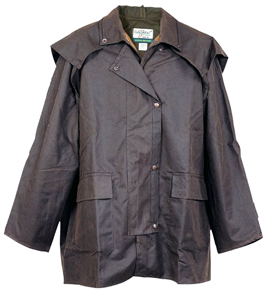 Brown Tracker 3/4 Length Jacket by Jacaru